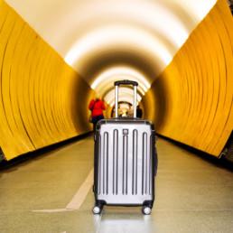 Cab Köpenhamn i tunnel