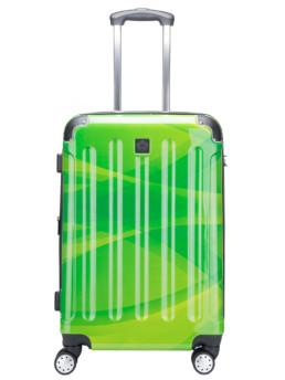 Cab Köpenhamn resväska i grön flerfärgad